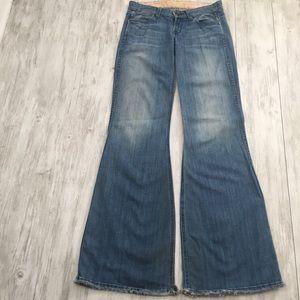 Rich & Skinny Flare Wide Leg Denim Blue Jeans - 26